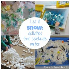 """Let it Snow"" Activities that Celebrate Winter (from Teach Preschool)"