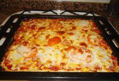 Lisztmentes pizza Diabetic Recipes, Gluten Free Recipes, Low Carb Recipes, Healthy Recipes, Meatless Recipes, Pizza, Lasagna, Healthy Snacks, Food And Drink