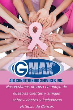 #Gmax air, nos vestimos de rosa en apoyo de nuestras clientes y amigas# sobrevivientes y luchadoras victimas de #cáncer. Pink, Female Fighter, Girlfriends
