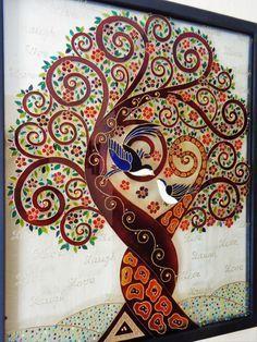 Arbre damour art 17 x 21 aime larbre arbre de vie art par CozyHome1