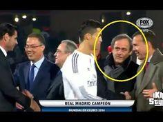 Cristiano Ronaldo ignora saludo de Michel Platini   Cristiano Ronaldo no saluda a Platini - YouTube