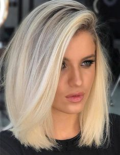 Fabulous Style of Medium Blonde Hair to wear Now Edgy Medium Hairstyles, Bob Hairstyles With Bangs, Hairstyles Haircuts, Popular Hairstyles, Growing Out Short Hair Styles, Medium Hair Styles, Long Hair Styles, Blonde Hair Cuts Medium, Blonde Hair Long Bob