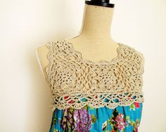 Have you got an old scarf laying around? An odd skein of cotton yarn that you don't know what to do?  Keila top