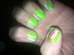 St. Patrick's Day nails from another viewpoint.