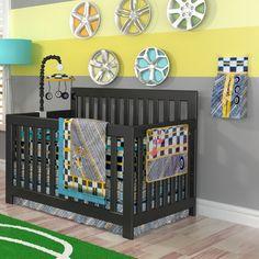 Dk Leigh Tiny Turbo 10 Piece Boutique Race Car Crib Nursery Bedding Set Boy