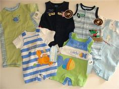 You are bidding on SIX (6) Outfits for your baby boy    ALL BRAND NEW!!!