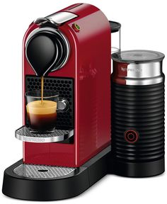 From the first cup in the morning to the last latte at night, enjoy rich taste with the Nespresso Citiz & Milk. The system includes an Aeroccino that lets you prepare the froth as the coffee brews. Mo