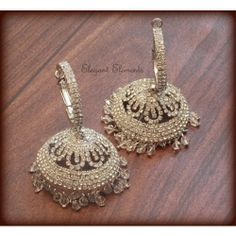 Festival dhamaaka, elegant and trendy, ethnic zircon stud silver color earring jhumki