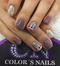 Gel Nail Art, Nail Manicure, Acrylic Nails, Love Nails, Pretty Nails, My Nails, Valentine Nail Art, Gel Nail Designs, Bling Nails