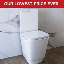 portel close coupled toilet and cistern inc luxury soft close seat