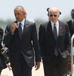 The president's schedule in Orlando has been in flux since the White House announced the trip on Monday (pictured, Obama and Vice President Joe Biden)