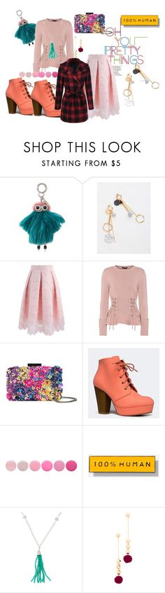 """Untitled #119"" by emilyli016 ❤ liked on Polyvore featuring Fendi, Chicwish, Alexander McQueen, Oscar de la Renta, Qupid, Deborah Lippmann, Everlane, Anzie, Elizabeth and James and cute"