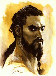 Khal Drogo by John Casacop on deviantART #ASoIaF #GameofThrones