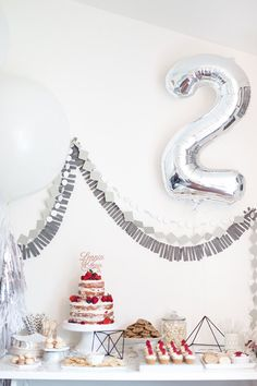Silver 2nd birthday by Dulcet Creative #lifeoftheparty
