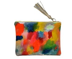 Hand Painted Travel Clutch