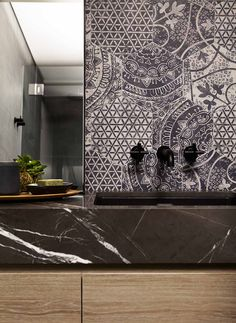 KIRRIBILLI VIEW by Hare & Klein. These tiles have a great Balinese feel and would make any space look terrific