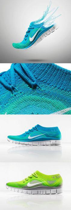 Nike Free Flyknit running shoe