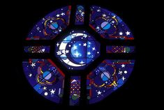 Sister Moon    St. Clare of Assisi Catholic Church  Houston, Texas  Architect: Bailey Architects  Design Consultant: Prof. Marchita Mauck  7ft. Diameter