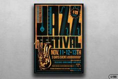 Jazz Festival Flyer Template V2 By Thats Design Store