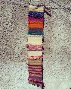 $15.000 pesos lana natural técnica tapicería 67x23 cm