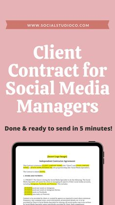 Set up this social media manager contract to wow your freelance clients and cover your freelance business legally. Use the social media manager contract template, determine your social media manager pricing, and find some free social media management tools, and you'll be good to go for your first freelance client. #socialmediamanager #freelancer #entrepreneur #workfromhome Business Model, Business Tips, Business Names, Creative Business, Business Marketing, Online Marketing, Social Media Marketing, Social Media Management Tools, Social Media Tips