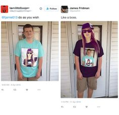 Have you ever hear of James Fridman? Well, James is a Photoshop guru. He can do best in Photoshop skill, you can request him to do as you want. Funny Photoshop Requests, Funny Photoshop Fails, Photoshop Help, Funny Fails, Funny Jokes, Stupid Memes, Photoshop Actions, James Fridman, Man Humor