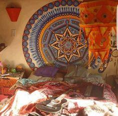 hippie bedroom decor designs image of hippie bedding idea Hippie Bedroom Decor, Hippy Bedroom, Hippie Bedding, Bohemian Room, Bohemian Decor, Bohemian Bedrooms, Hippie Bohemian, Tribal Bedroom, Bohemian Homes