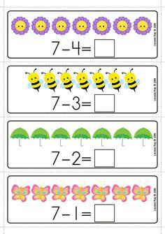 Spring Math Centers for Kindergarten - Math Preschool Math, Kindergarten Math, Fifth Grade Math, Grade 3, Second Grade, Kids Math Worksheets, Christmas Math, Thanksgiving Math, Math Centers