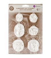 Prima Marketing Relic & Artifacts Archival Cast Intaglios Embellishments,