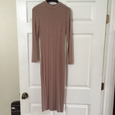 Nude midi Worn only once to a wedding. Not from listed brand. Zara Dresses Midi