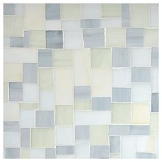 Stained Glass Mosaic Tile   Tranquil Shores Blend Gloss   Petite Block