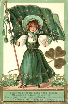 Irish Girl with Flag