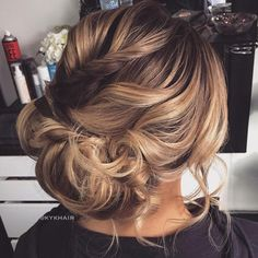 Curly+Low+Asymmetrical+Updo