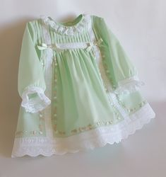 {Customary and tailored made baby robe, offers the best solution. Cute Baby Dresses, Little Girl Outfits, Toddler Girl Dresses, Kids Outfits, Baby Girl Frocks, Frocks For Girls, Kids Frocks, Girls Frock Design, Baby Dress Design