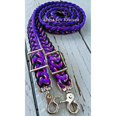 Acid Purple, Barney & Black Adjustable Riding Reins