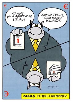 Tract BD EURO * Le Chat * Geluck * 2001