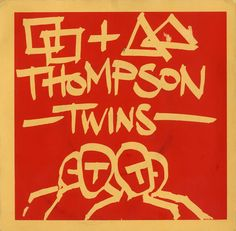 "Thompson Twins, Squares & Triangles - Red/Yellow Sleeve, UK, Deleted, 7"" vinyl single (7 inch record), Dirty Discs, RANK1, 194951"