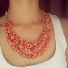 Collar del día de hoy..  Rojo/naranja 3cadenas en 1 ..#meencanta #astromelia #collares  $120  enviamos a toda la república mexicana