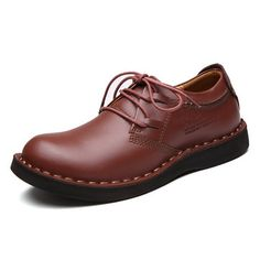 Men Genuine Leather Wearable Resistant Breathable Outdoor Soft Casual Shoes - NewChic Mobile.