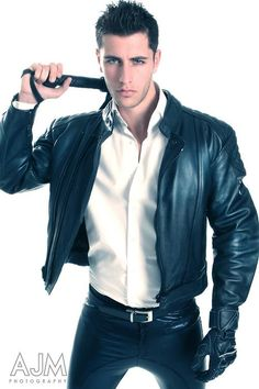 Men in Suit and Leather