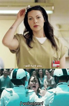 I will fuck you. I volunteer !!! ALEX VAUSE #oitnb