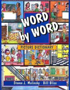 Word by word picture dictionary contains hundreds of activities for beginning learners of English as a second language. Word by word picture dictionary covers a wide range of topics, including clothing, home, transportation, and more. English Fun, English Book, Learn English, Improve English, English Story, English Vocabulary, English Grammar, English Language, Second Language