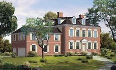Dignified Manor House Plan - 81148W | 2nd Floor Master Suite, Butler Walk-in Pantry, Corner Lot, Den-Office-Library-Study, Georgian, In-Law Suite, Multi Stairs to 2nd Floor, PDF, Traditional | Architectural Designs