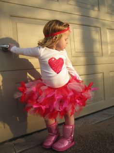 Over The Top Valentine's Day Heart Petti TuTu by CuteyPatoot, $56.00