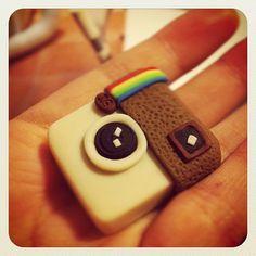instagram fondant cake topper