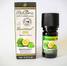 Bergamot essential oil, for home aromatherapy.
