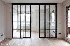 office Reform and decoration of a house in the center of Madrid. Architecture and Decoration Sheddin Deco Studio, Glass Room Divider, My Ideal Home, Room Doors, Bedroom Wall, Living Room Designs, House Design, Interior Design, House Styles