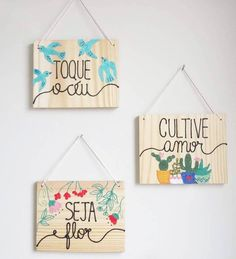 Craft Stick Crafts, Diy And Crafts, Crafts For Kids, Lettering Tutorial, Posca, Diy Wood Projects, String Art, Diy Gifts, Decoupage
