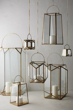 Geo Glow Lantern | anthropologie