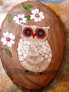 Whoo the Owl Painting on Wood by OpenHeartGallery on Etsy, $15.00
